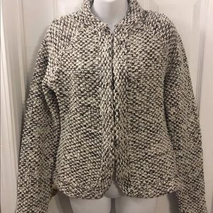 J. Crew medium Handknit Wool Sweater Cardigan